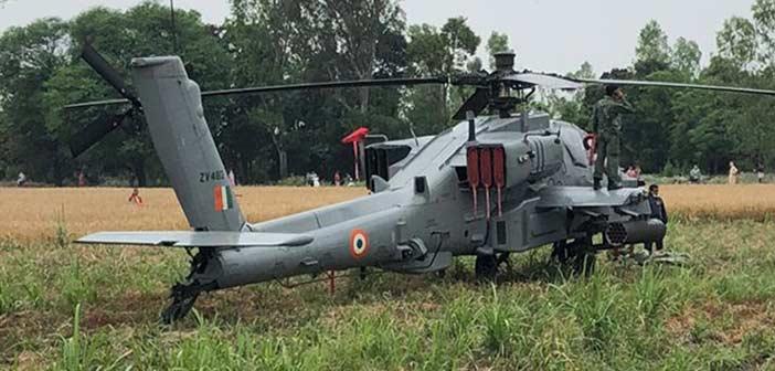 IAF Boeing Apache Emergency Landing