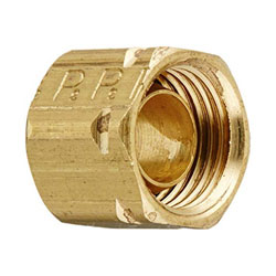 Bent Trim Tab Hydraulic Fitting Nut with Ferrule