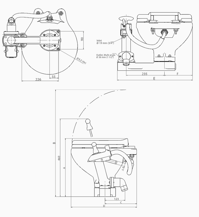 Johnson AquaT Manual Toilet