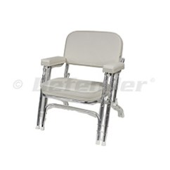 Marine Deck Chairs Mission Style Wise Folding Aluminum Double Leg Chair Defender