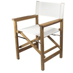 Folding Chair Fabric Lounge Covers Nz Seateak Director S With Seat And Back