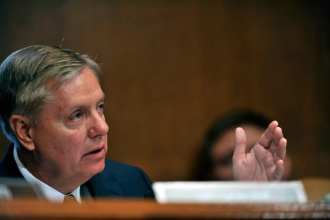 U.S. Sen. Lindsey Graham of South Carolina questions Secretary of Defense Leon E. Panetta and Chairman of the Joint Chiefs of Staff Army Gen. Martin E. Dempsey during testimony concerning the fiscal 2013 budget before the Senate Committee on Appropriations defense subcommittee at the Dirksen Senate Office Building in Washington, D.C., June 13, 2012. DoD photo by Glenn Fawcett