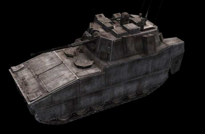 """A notional infantry fighting vehicle depicted for the Future Combat Systems program. Army Vice Chief of Staff Gen. Peter Chiarelli has stressed that the new GCV is """"not just FCS warmed over."""" U.S. Army imagery"""