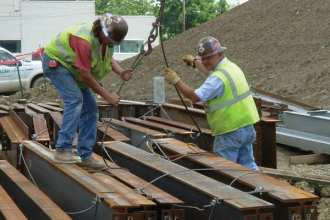 USACE estimates that projects funded by the American Recovery and Reinvestment Act (ARRA) of 2009 could generate as many as 57,000 direct construction jobs. Photo courtesy of USACE.