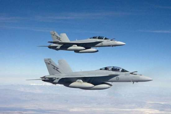 Australia received its first F/A-18F Super Hornet in March, and full IOC of 24 Super Hornets is expected by 2012. Photo courtesy of Australian Department of Defense.