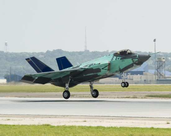 The first carrier variant F-35C also made its first flight during 2010. Photo courtesy of Lockheed Martin.