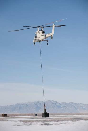 The Marine Corps Warfighting Lab conducted successful experiments with the Kaman/Lockheed Martin K-Max and