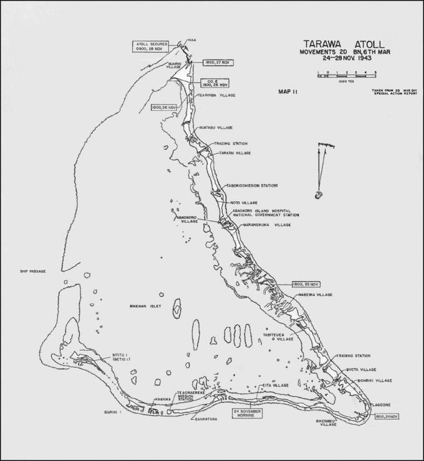 Slugging It Out In Tarawa Lagoon Defense Media Network - tarawa atoll map