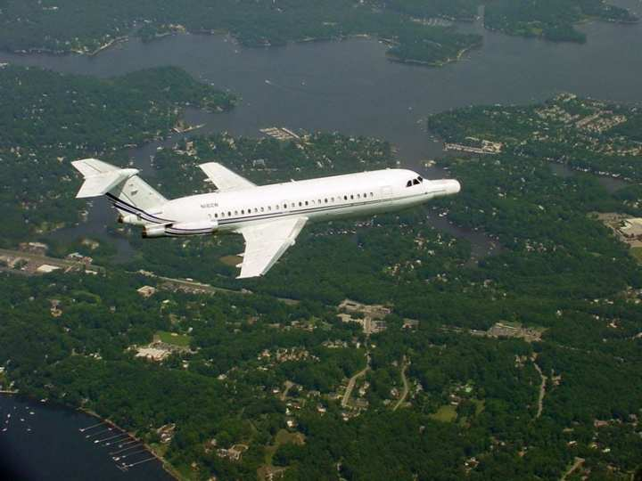 One of Northrop Grumman's BAC 1-11s in flight over Maryland. Photo courtesy of Northrop Grumman.