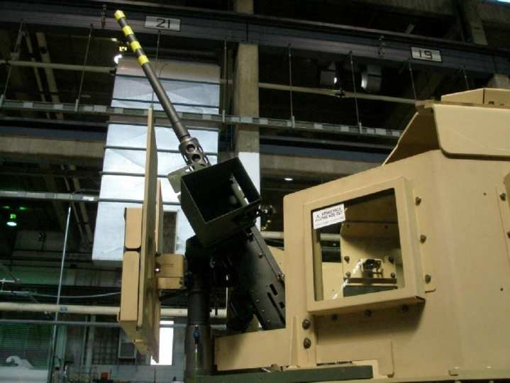 The design of the Objective Weapon Elevation Kit allows soldiers to engage elevated targets with the M2 .50-caliber heavy machine gun at up to 80 degrees while remaining protected. U.S. Army photo.