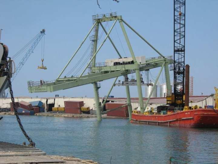 Damaged port in Haiti