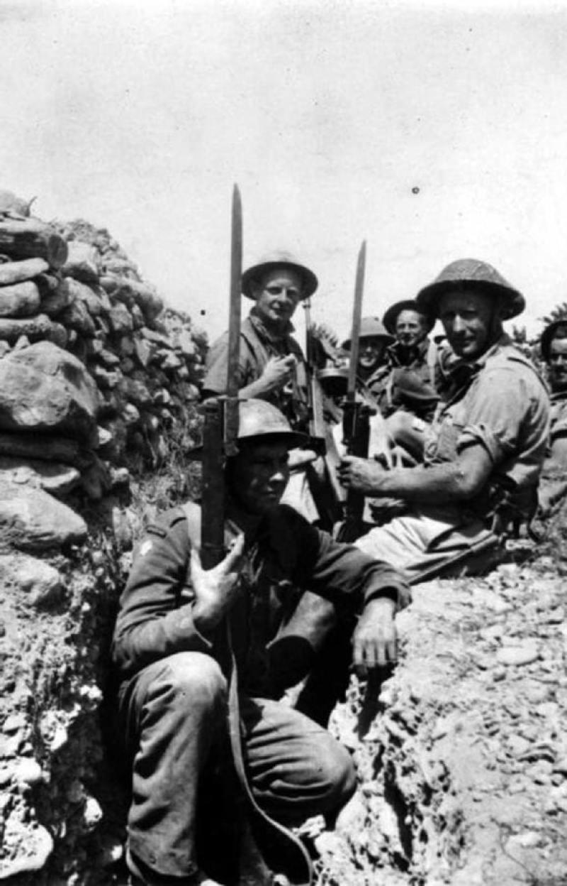 British Soldiers On Crete