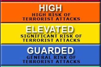 HSAS color coded terrorism system