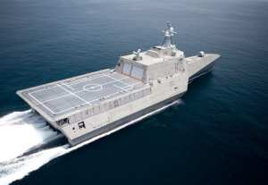 LCS 2 at speed