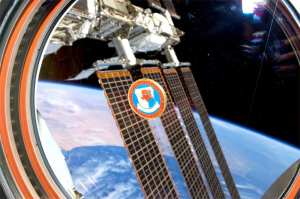 Challenge coin aboard the ISS