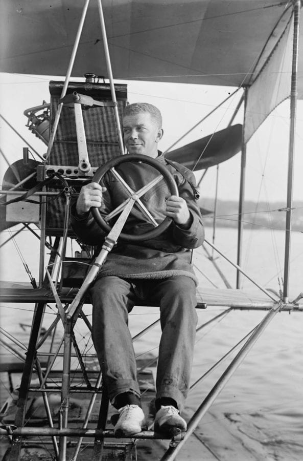 "Lt. Theodore G. ""Spuds"" Ellyson, the first naval aviator. Library of Congress photo"