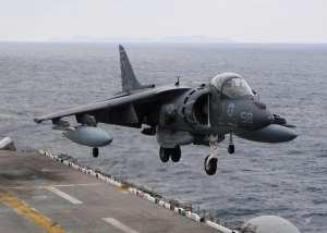 AV-8B Harrier jet USS Essex