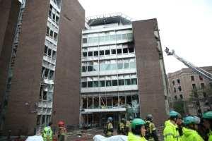 Oslo bombing damaged buildings