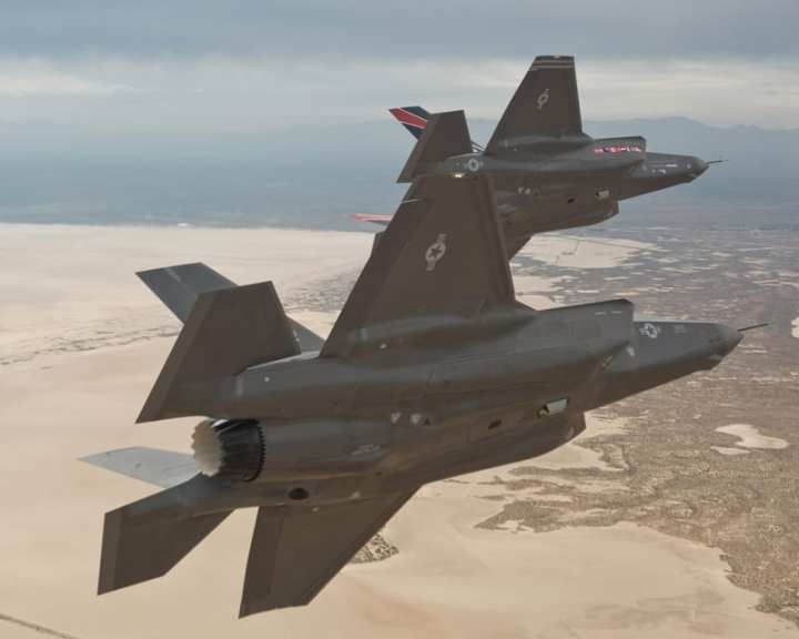 Pair of F-35As over Edwards AFB