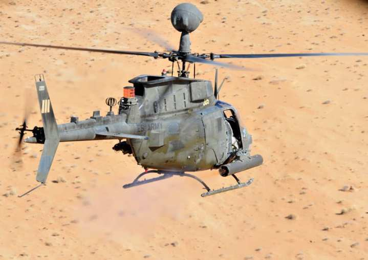 OH-58D over the range