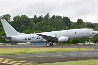 Production P-8 makes first flight