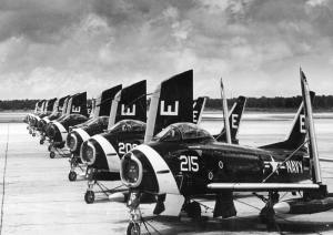 FJ-3 Fury fighters VF-61 Jolly Rogers