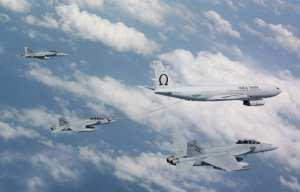 Omega tanker refuels RAAF Super Hornets