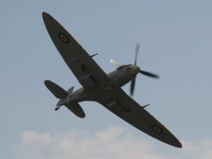 Spitfire, the type flown by Magee, author of High Flight