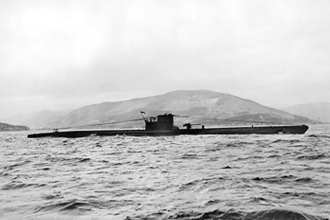 U-570 captured on the surface