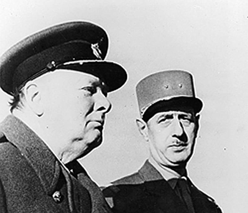 Resultado de imagen para Fotos de Winston Churchill y. Charles de Gaulle