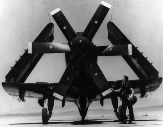 Douglas A2D-1 Skyshark Front View