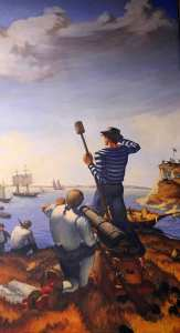"""Defense of the Cutter Eagle"" by Aldis B. Browne, II"