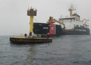 CGC Spar crew service NOAA weather buoy