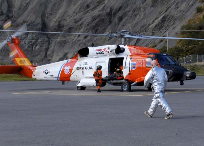 Coast Guard Air Station Kodiak MH-60 Jayhawk helicopter rescue