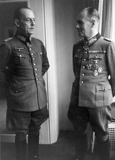 Von Rundstedt and Rommel, Paris