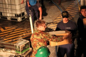 Walnut crewmembers drought relief in South Pacific