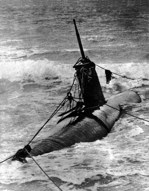 Midget submarines attack