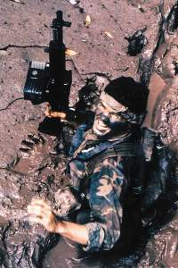 U.S. Navy SEAL During Operation