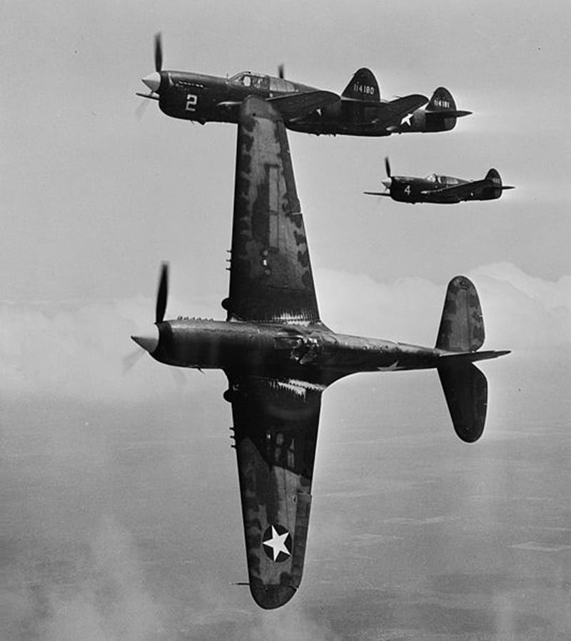 P-40F Warhawks