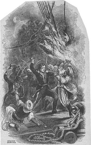 Lt. Stephen Decatur Boarding the USS Philadelphia