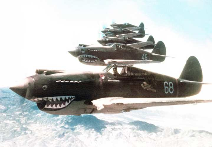 P-40B Warhawks