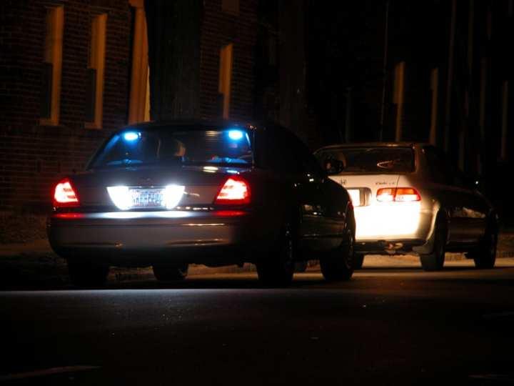 Night traffic stop in Durham