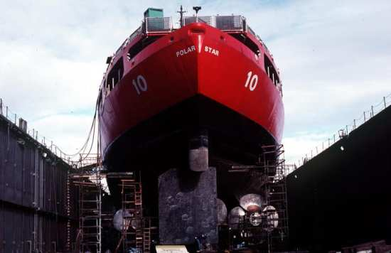 Polar Star in drydock