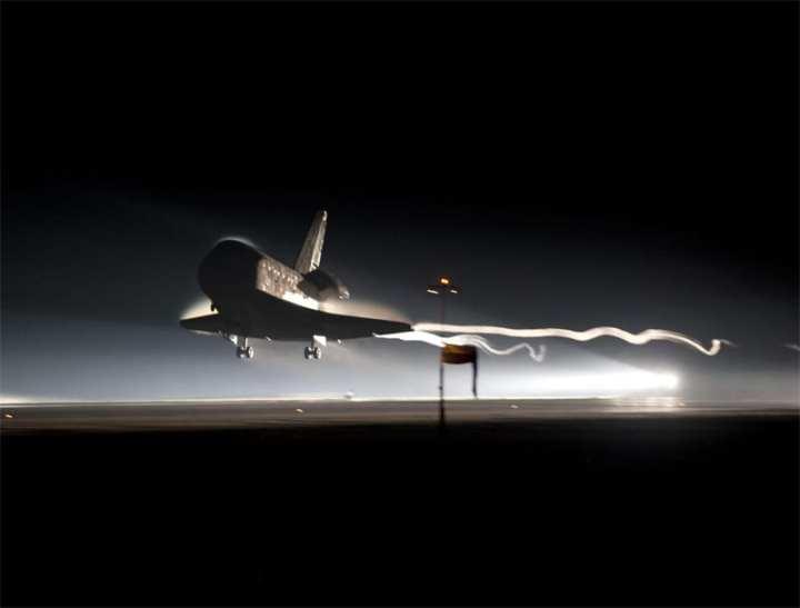Last shuttle landing