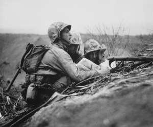 Marine Iwo Jima with KA-BAR
