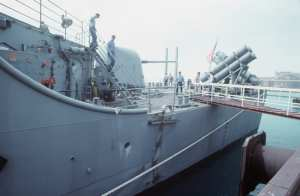 USS Princeton (CG 59) mine damage