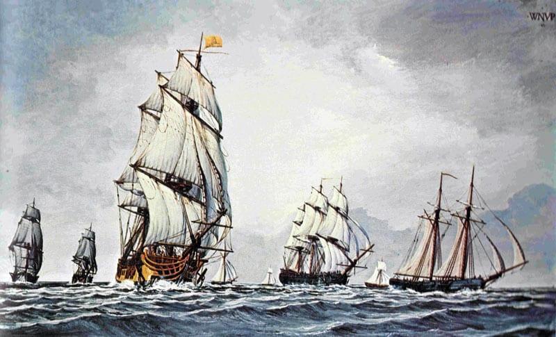 Continental Fleet At Sea