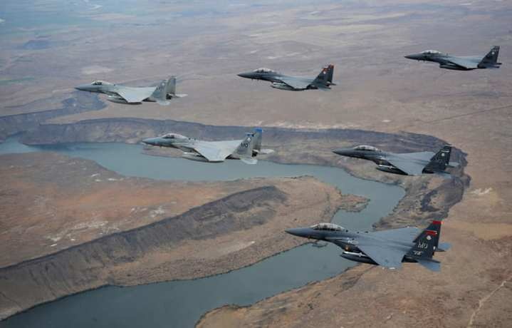 F-15 Eagles In Formation