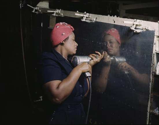 African-American Woman War Worker During World War II
