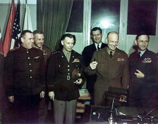 Allied Commanders after Surrender